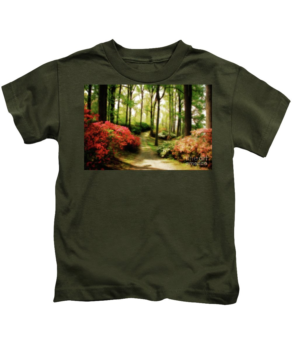 Landscape Kids T-Shirt featuring the photograph Dreamy Path by Lois Bryan