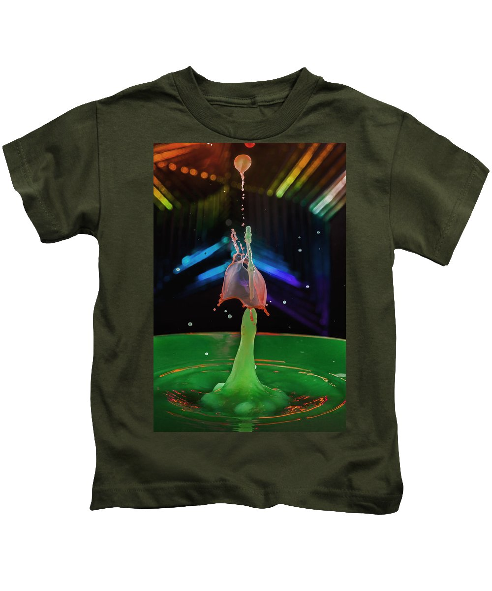 Abstract Kids T-Shirt featuring the photograph Dripping Drop by Robert Storost
