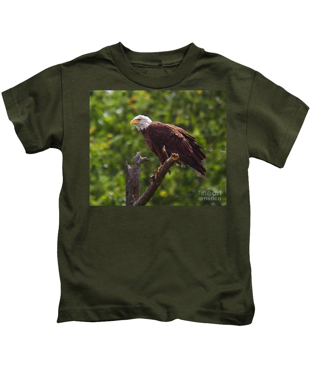 Eagle Kids T-Shirt featuring the photograph Eagle-2 by Robert Pearson