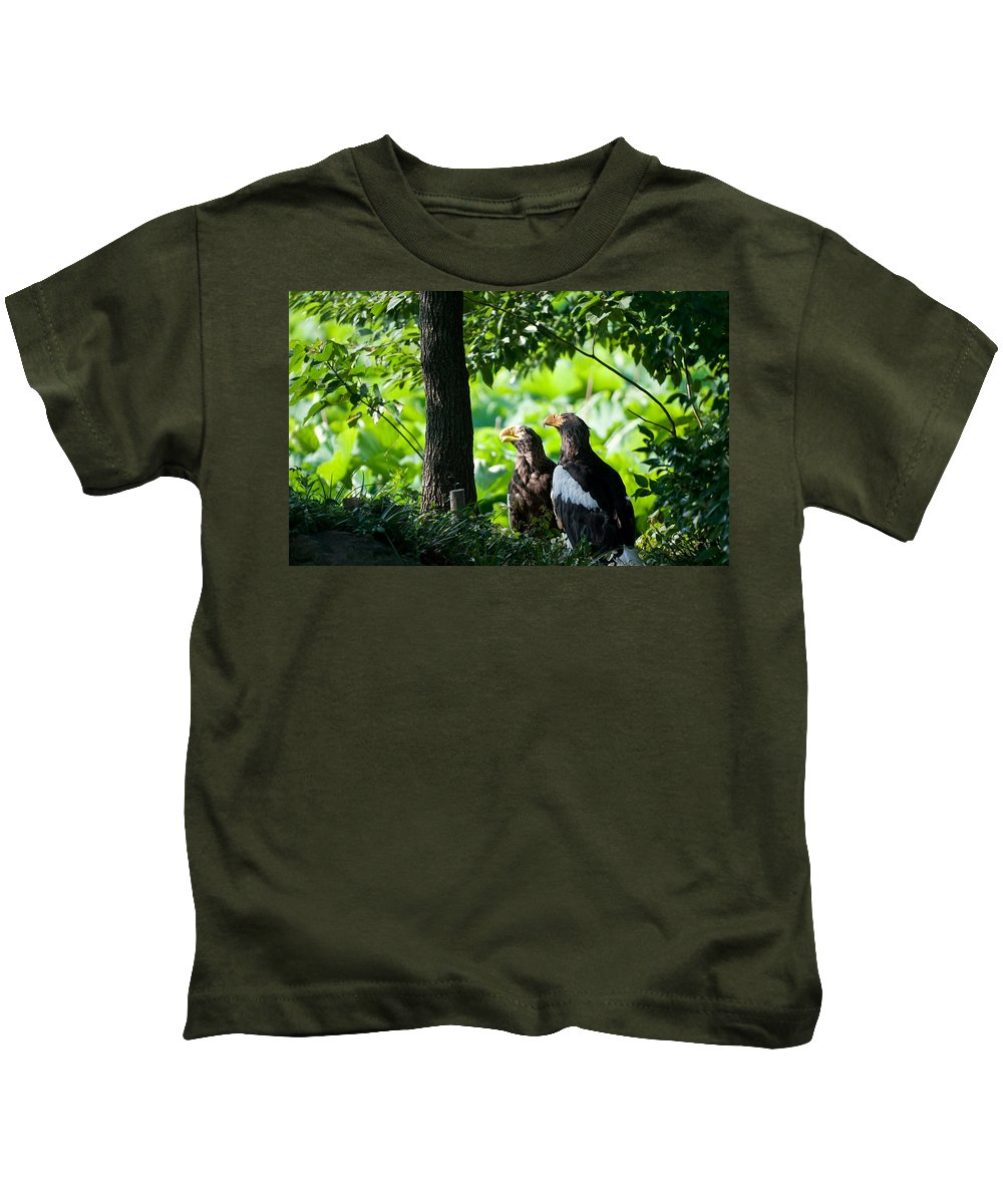 Eagle Kids T-Shirt featuring the digital art Eagle by Dorothy Binder