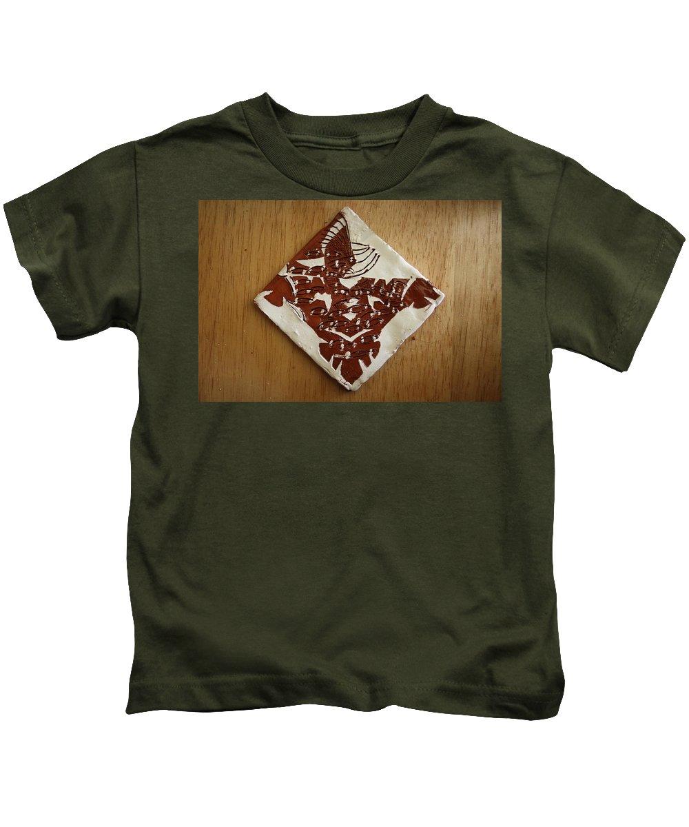Jesus Kids T-Shirt featuring the ceramic art Eagle Eye - Tile by Gloria Ssali