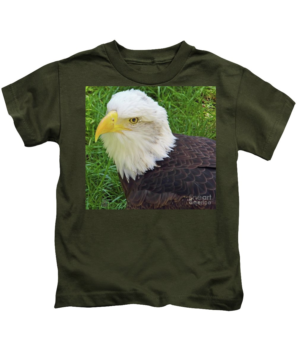 Bald Eagle Kids T-Shirt featuring the photograph Eagle Eye by D Hackett