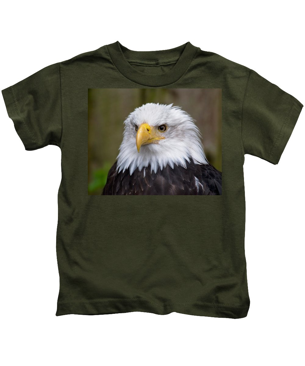 Eagle Kids T-Shirt featuring the photograph Eagle In Ketchikan Alaska by Michael Bessler