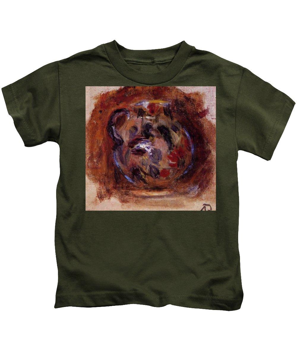 Earthenware Kids T-Shirt featuring the painting Earthenware Jug by Renoir PierreAuguste