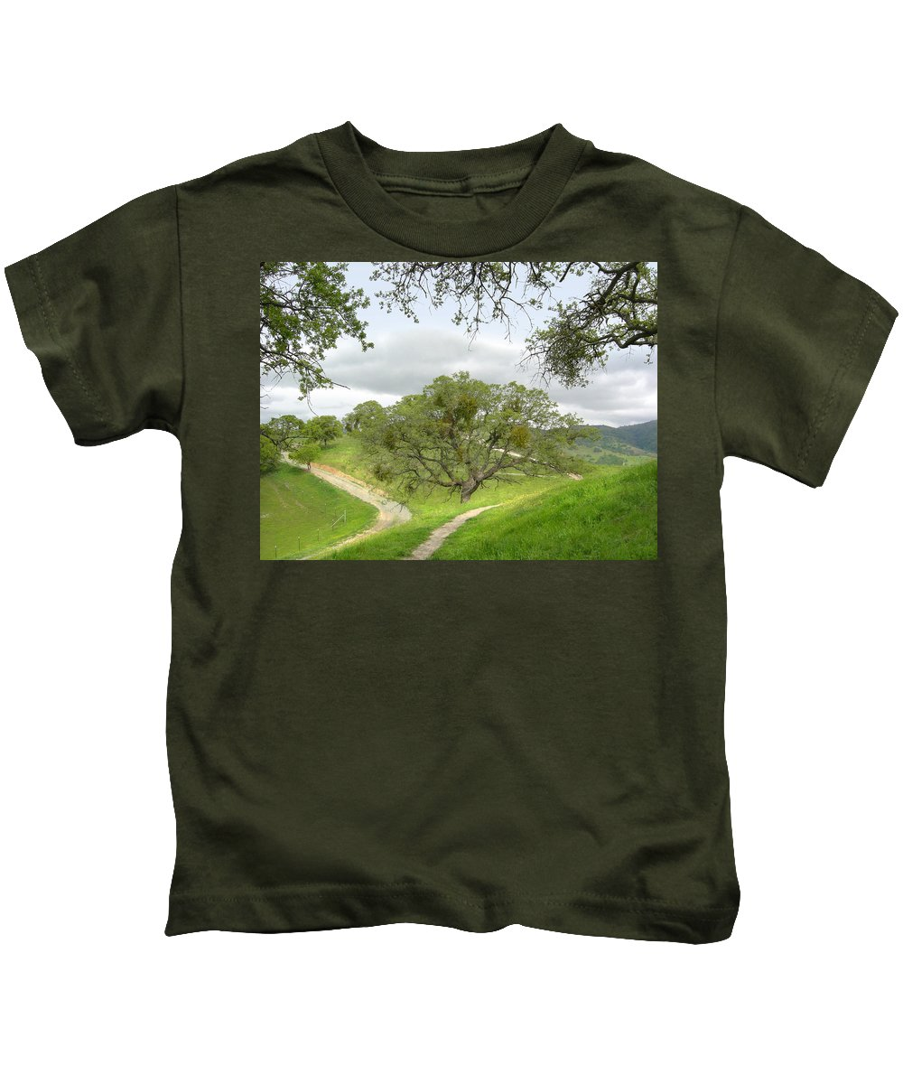 Landscape Kids T-Shirt featuring the photograph East Ridge Trail - Spring by Karen W Meyer