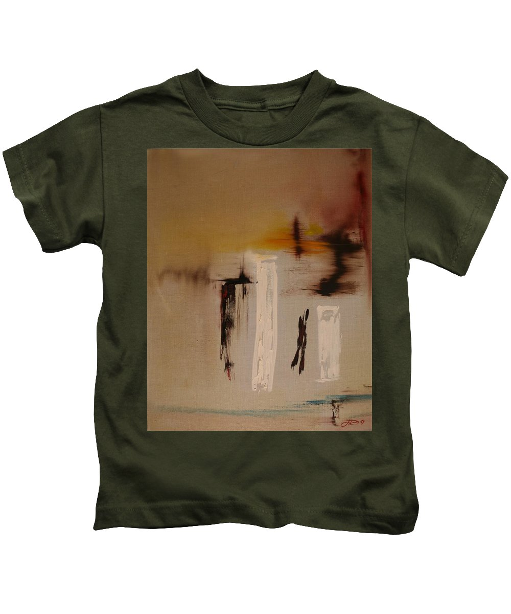 Abstract Kids T-Shirt featuring the painting Easy by Jack Diamond