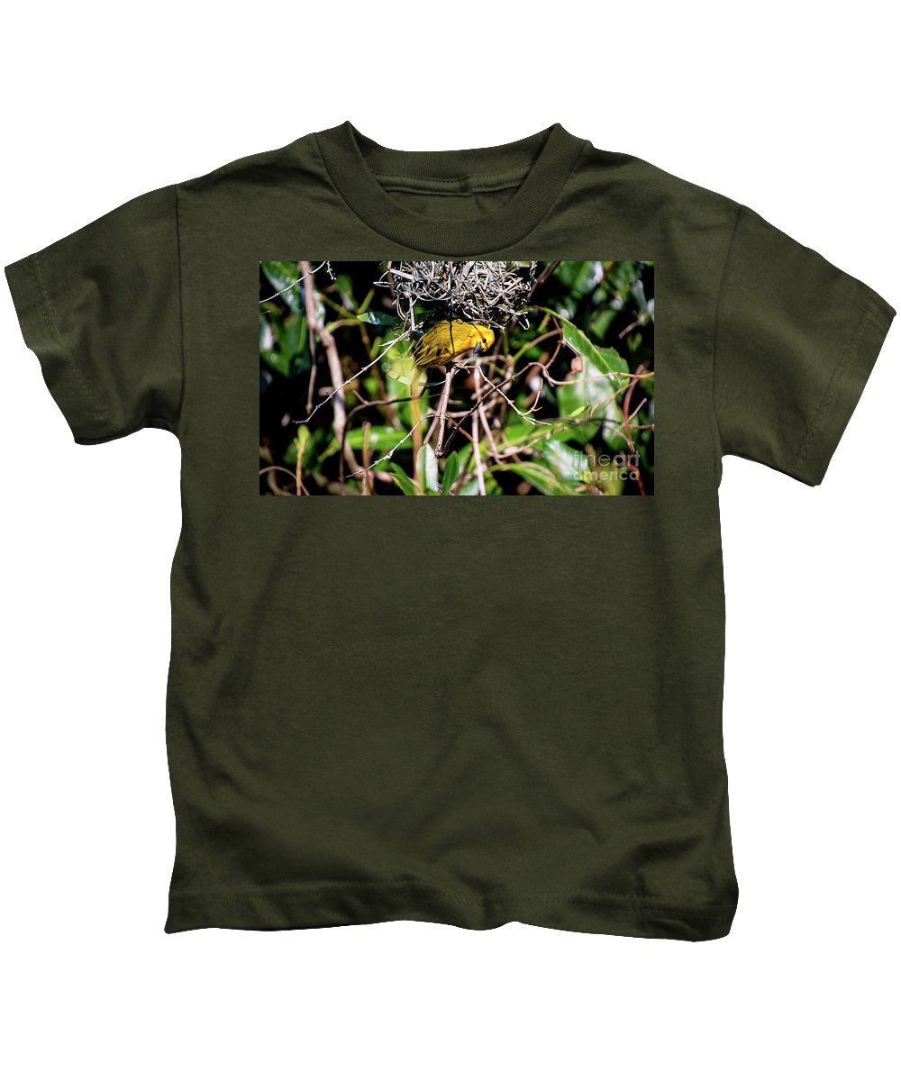 Nature Kids T-Shirt featuring the photograph Eavesdropping by Deborah Klubertanz