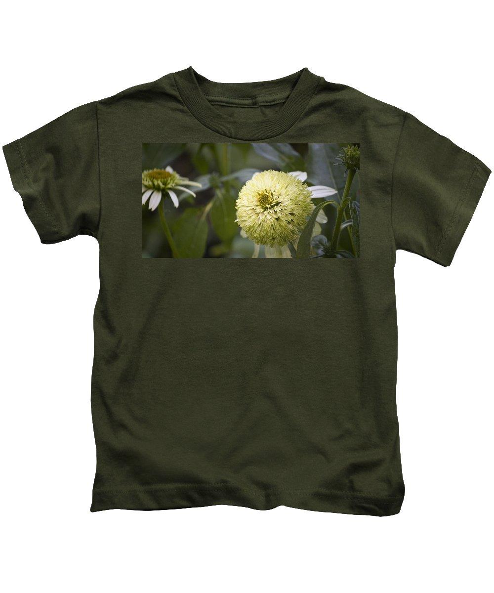 Photographs Kids T-Shirt featuring the photograph Echinacea Milkshake by Teresa Mucha