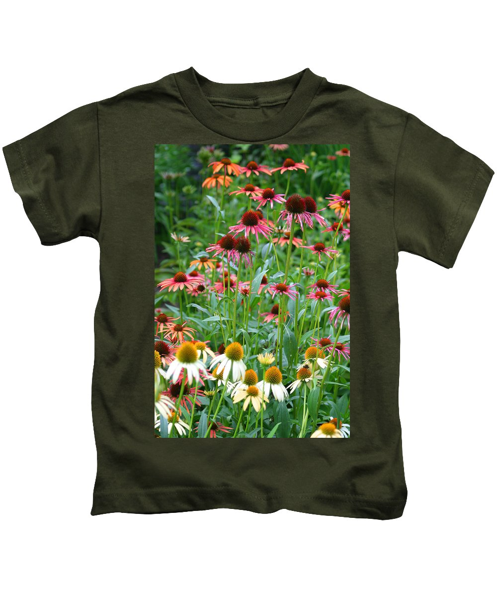 Echinacea Kids T-Shirt featuring the photograph Echinacea Multi Mix by Living Color Photography Lorraine Lynch