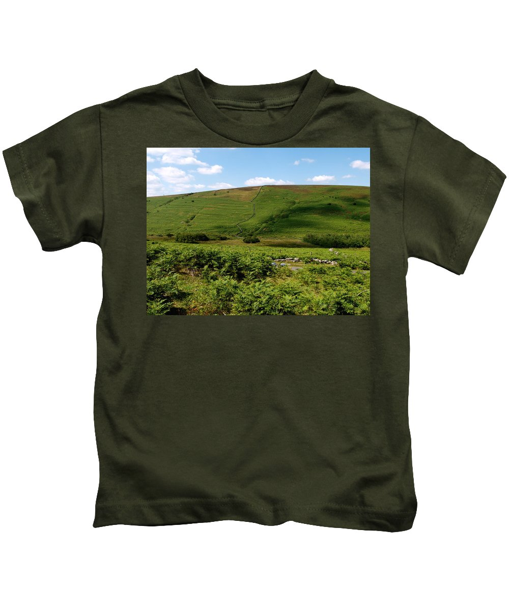 Dartmoor Kids T-Shirt featuring the photograph Edge Of Dartmoor by Michaela Perryman
