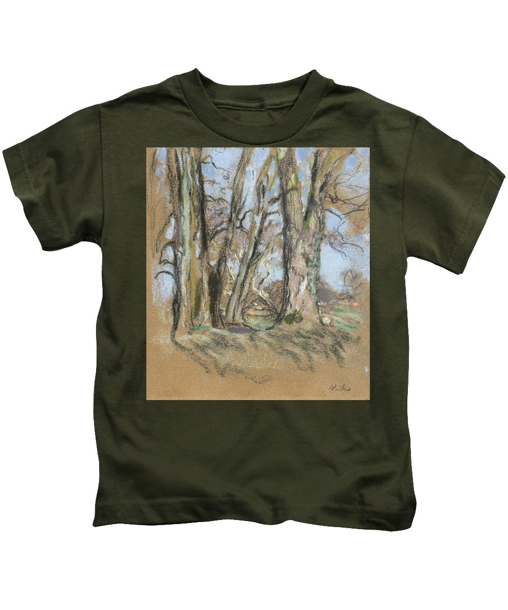 Nature Kids T-Shirt featuring the painting Edouard Vuillard Cuiseaux 1868-1940 La Baule The Park In Clayes. 1932-1938. by Edouard Vuillard