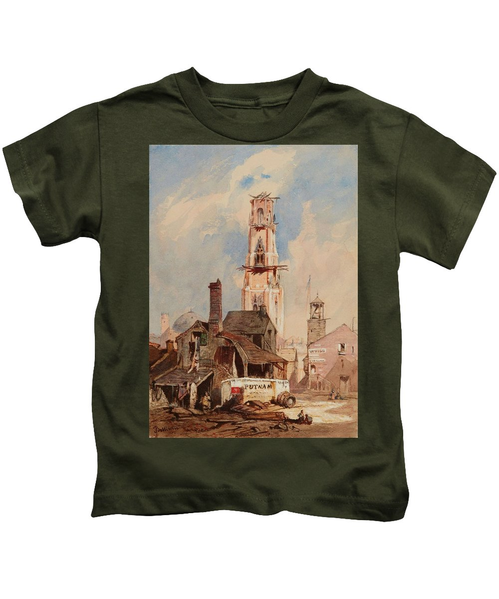 Nature Kids T-Shirt featuring the painting Eduard Hildebrandt, Baltimore by Eduard Hildebrandt