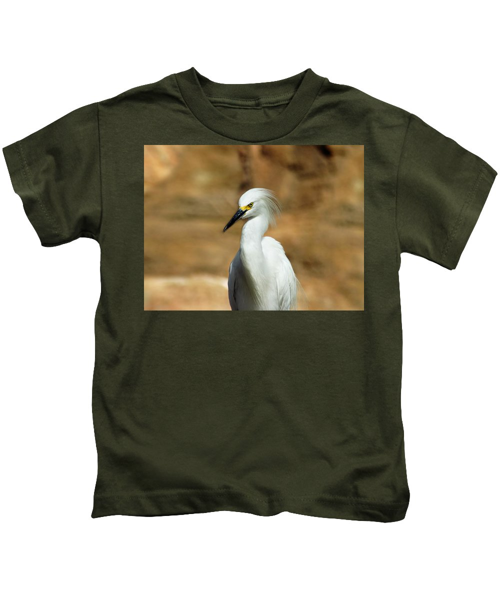 Egret Kids T-Shirt featuring the photograph Egret 3 by Anthony Jones