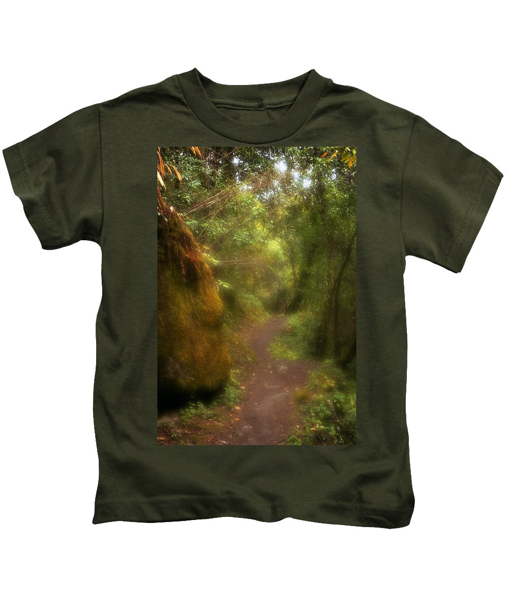 Path Kids T-Shirt featuring the photograph El Camino by Patrick Klauss