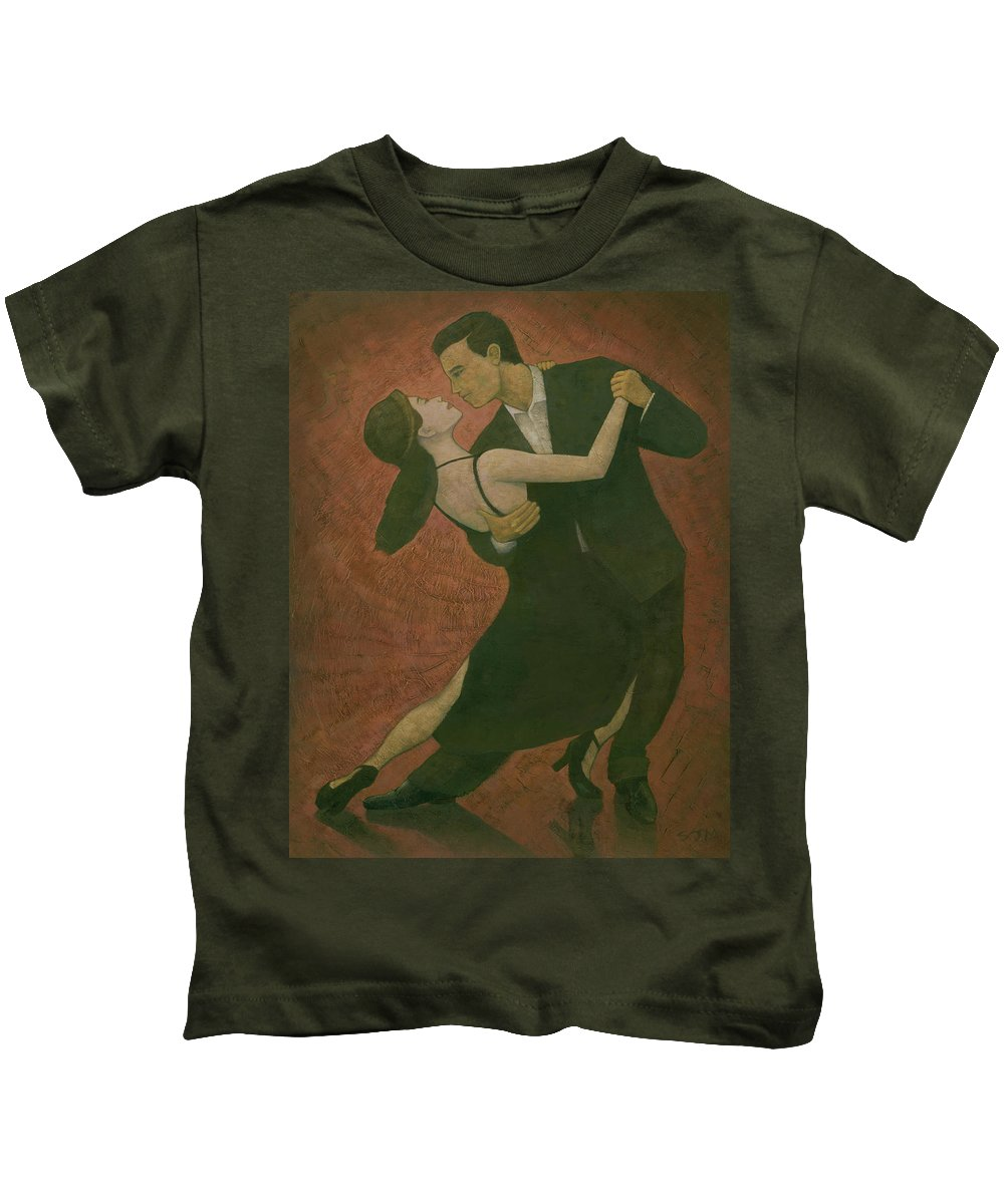 Tango Kids T-Shirt featuring the painting El Tango by Steve Mitchell
