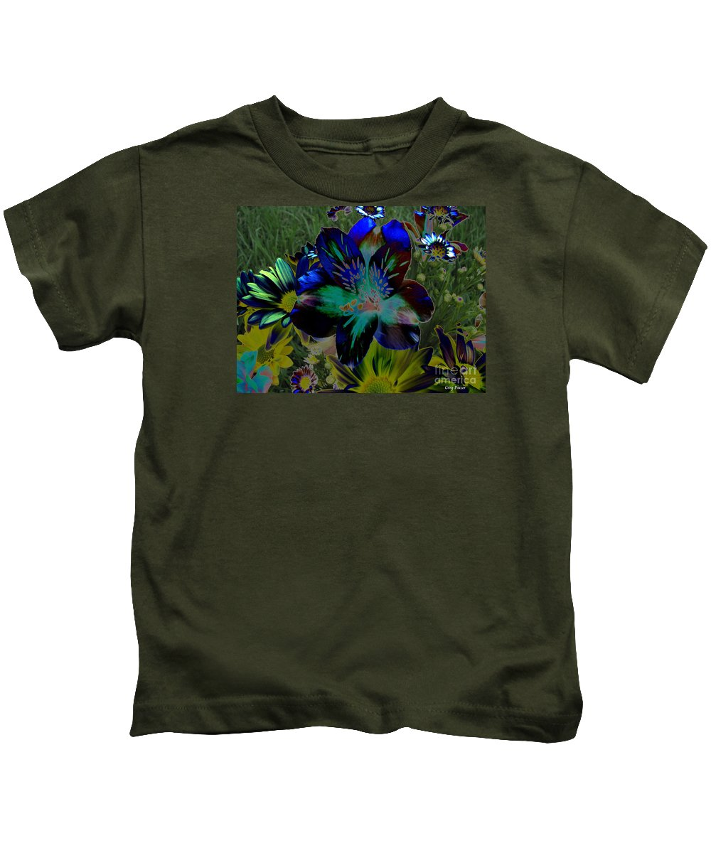 Art For The Wall...patzer Photography Kids T-Shirt featuring the photograph Electric Lily by Greg Patzer