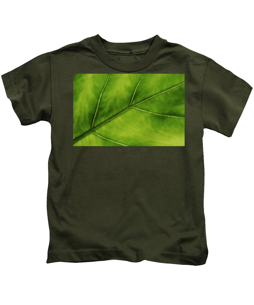 Leaf Kids T-Shirt featuring the photograph Elephant Ear by Marilyn Hunt