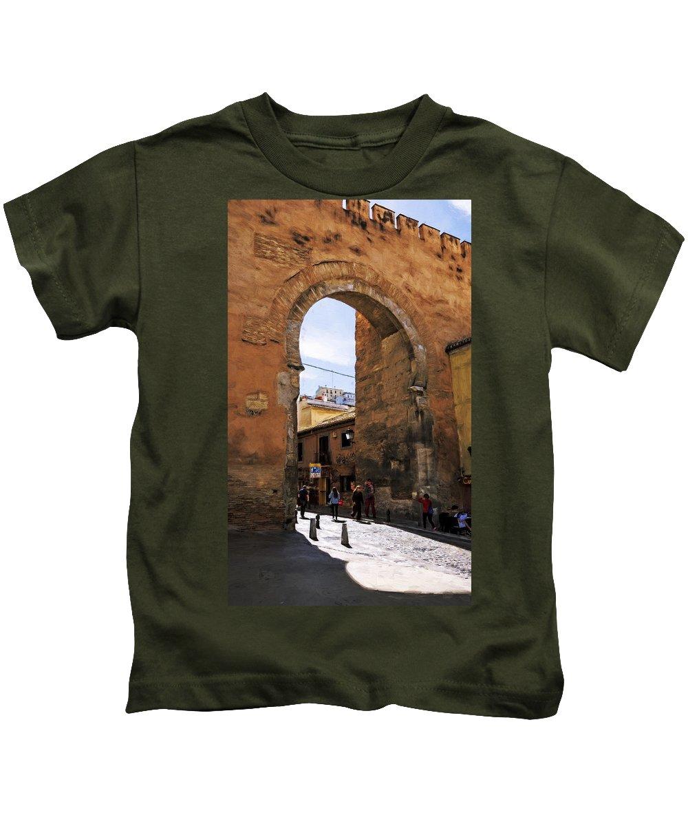 Joan Carroll Kids T-Shirt featuring the photograph Elvira Gate by Joan Carroll