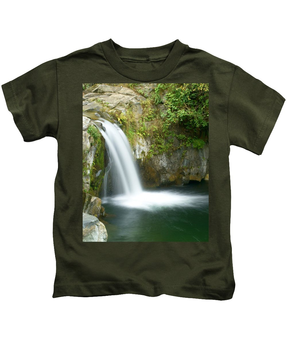Waterfall Kids T-Shirt featuring the photograph Emerald Falls by Marty Koch