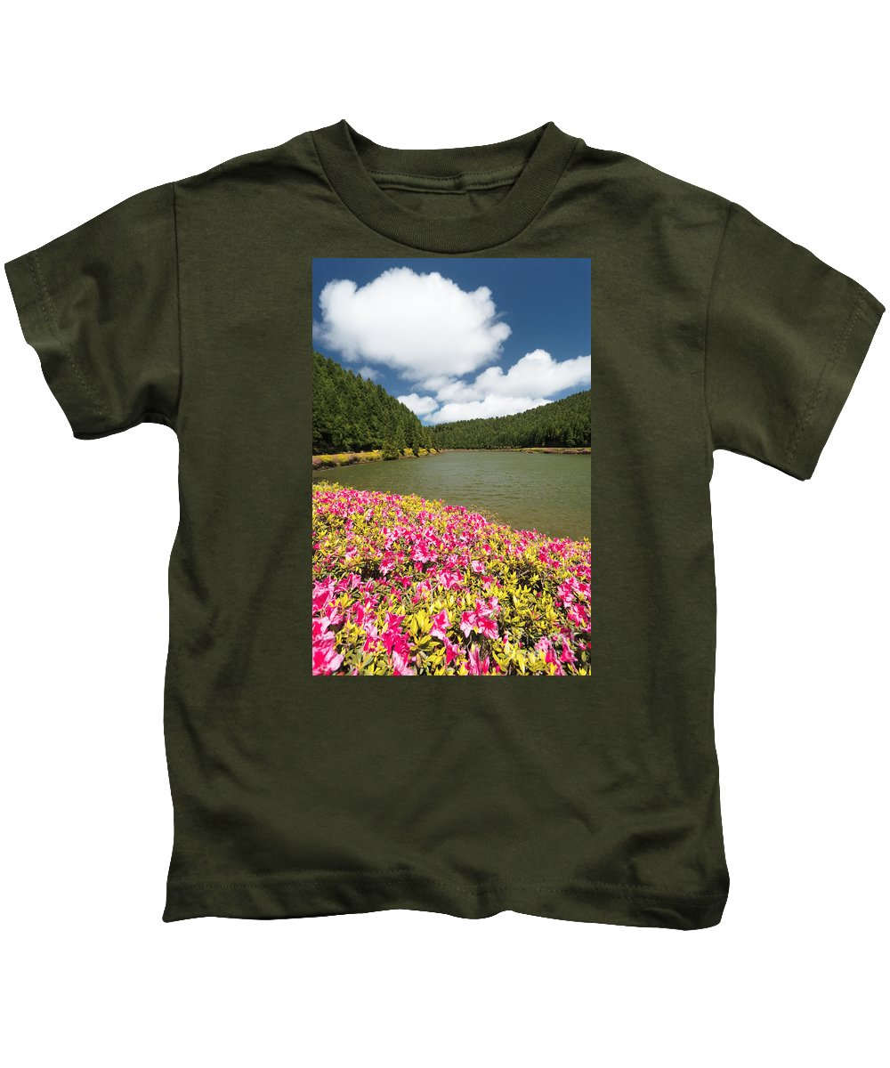 Portugal Kids T-Shirt featuring the photograph Empadadas Lakes II by Gaspar Avila