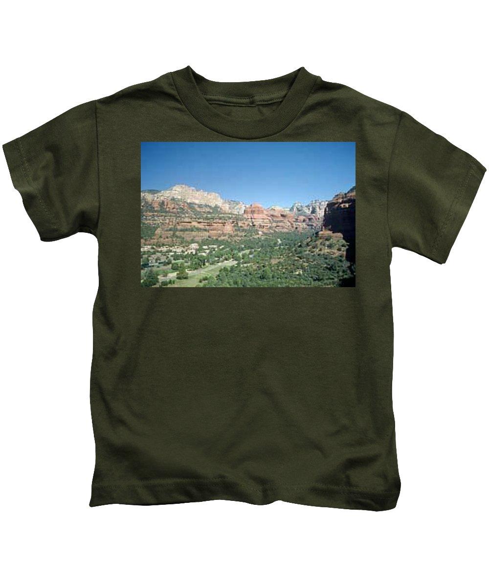 Sedona Kids T-Shirt featuring the photograph Enchantment Resort Sedona Arizona by Gary Wonning