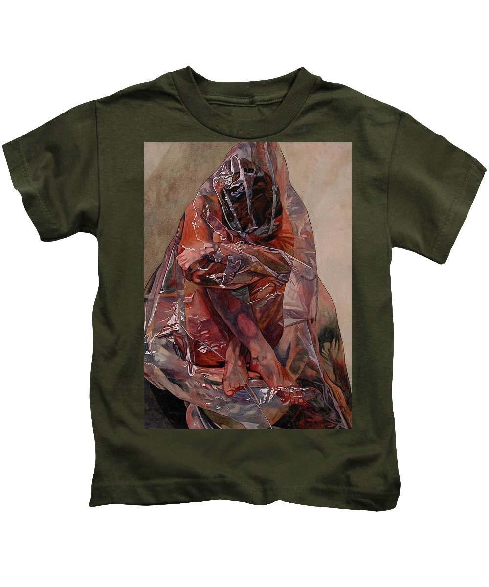 Nude Kids T-Shirt featuring the painting Encompassed by Valerie Patterson