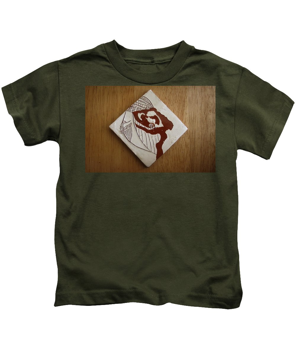 Jesus Kids T-Shirt featuring the ceramic art Energy - Tile by Gloria Ssali