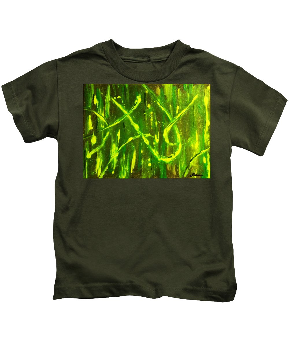 Abstract Kids T-Shirt featuring the painting Envy by Todd Hoover