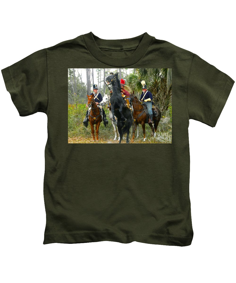 Seminole Indians Kids T-Shirt featuring the photograph Escape Of Billy Bowlegs by David Lee Thompson
