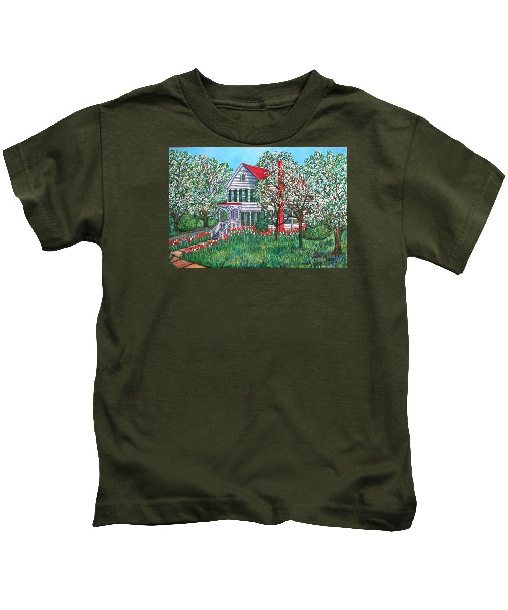 Home Kids T-Shirt featuring the painting Esther's Home by Kendall Kessler
