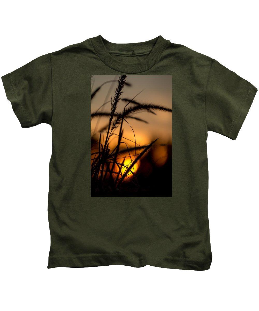 Grass Kids T-Shirt featuring the photograph Evening Arrives by Andrea Kappler