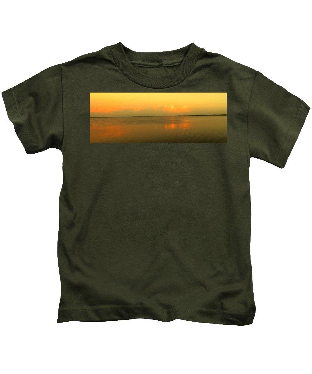 Florida Kids T-Shirt featuring the photograph Evening Shades by Ian MacDonald