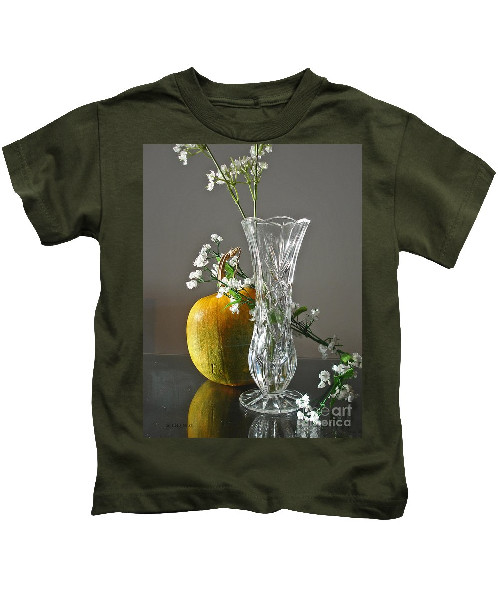 Still Life Kids T-Shirt featuring the photograph Everlasting Harvest by Shelley Jones