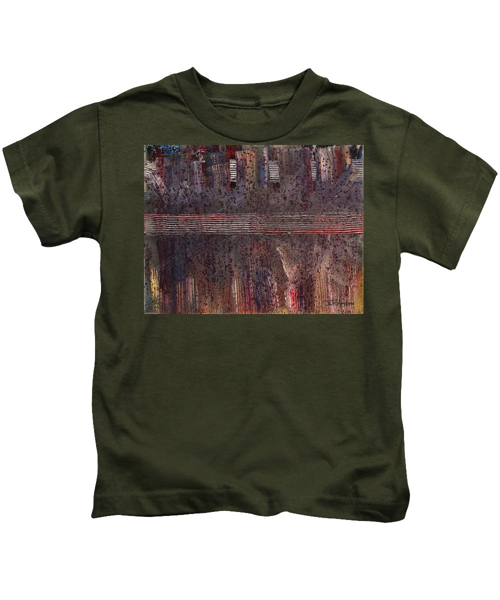 Abstract Kids T-Shirt featuring the painting Expression # 5 by Jason Williamson