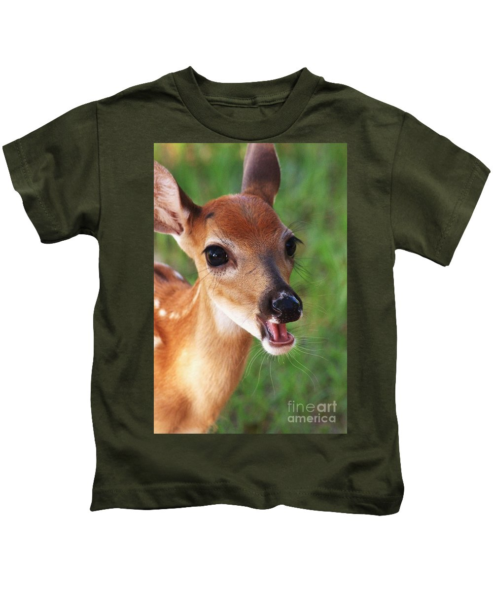 Fawn Kids T-Shirt featuring the photograph Eye Lashes by Kim Henderson