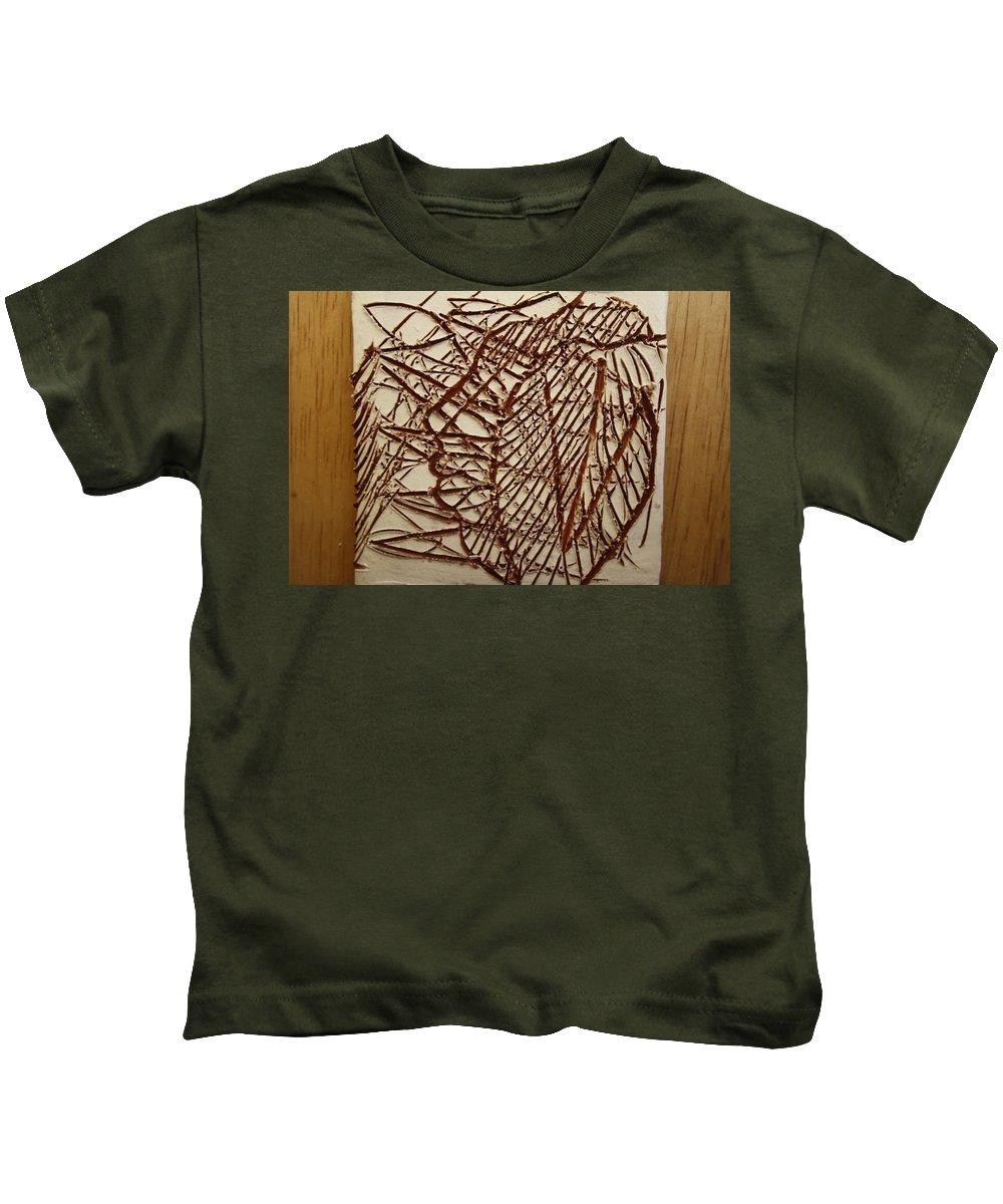 Jesus Kids T-Shirt featuring the ceramic art Ezra - Tile by Gloria Ssali