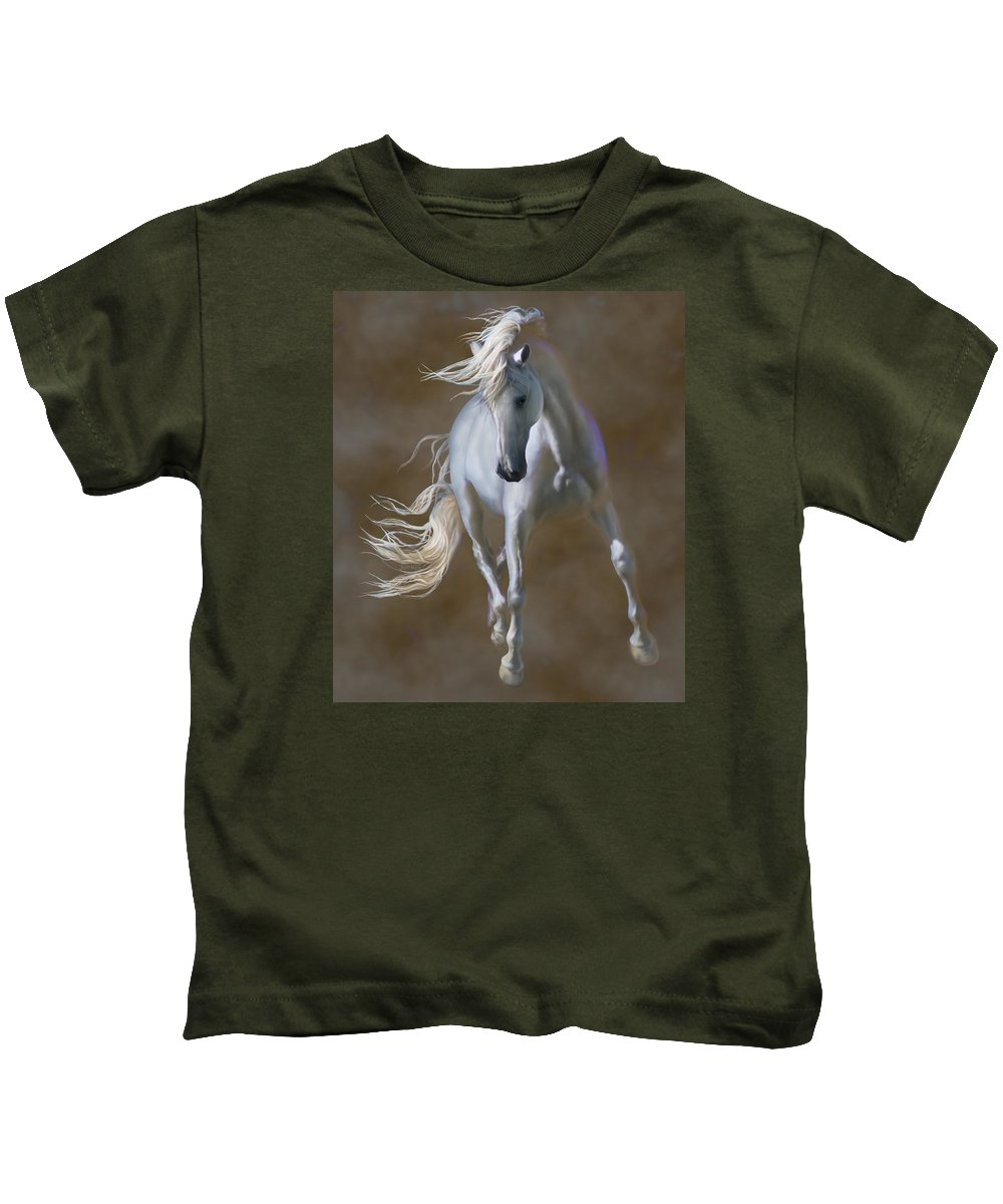 Andaluian Kids T-Shirt featuring the digital art Fabuloso by Barbara Hymer