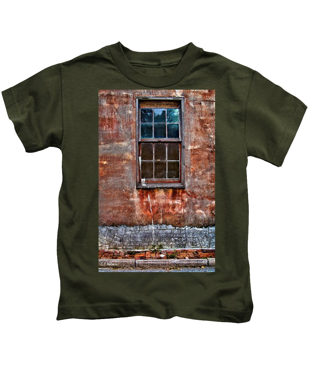 Window Kids T-Shirt featuring the photograph Faded Over TIme by Christopher Holmes