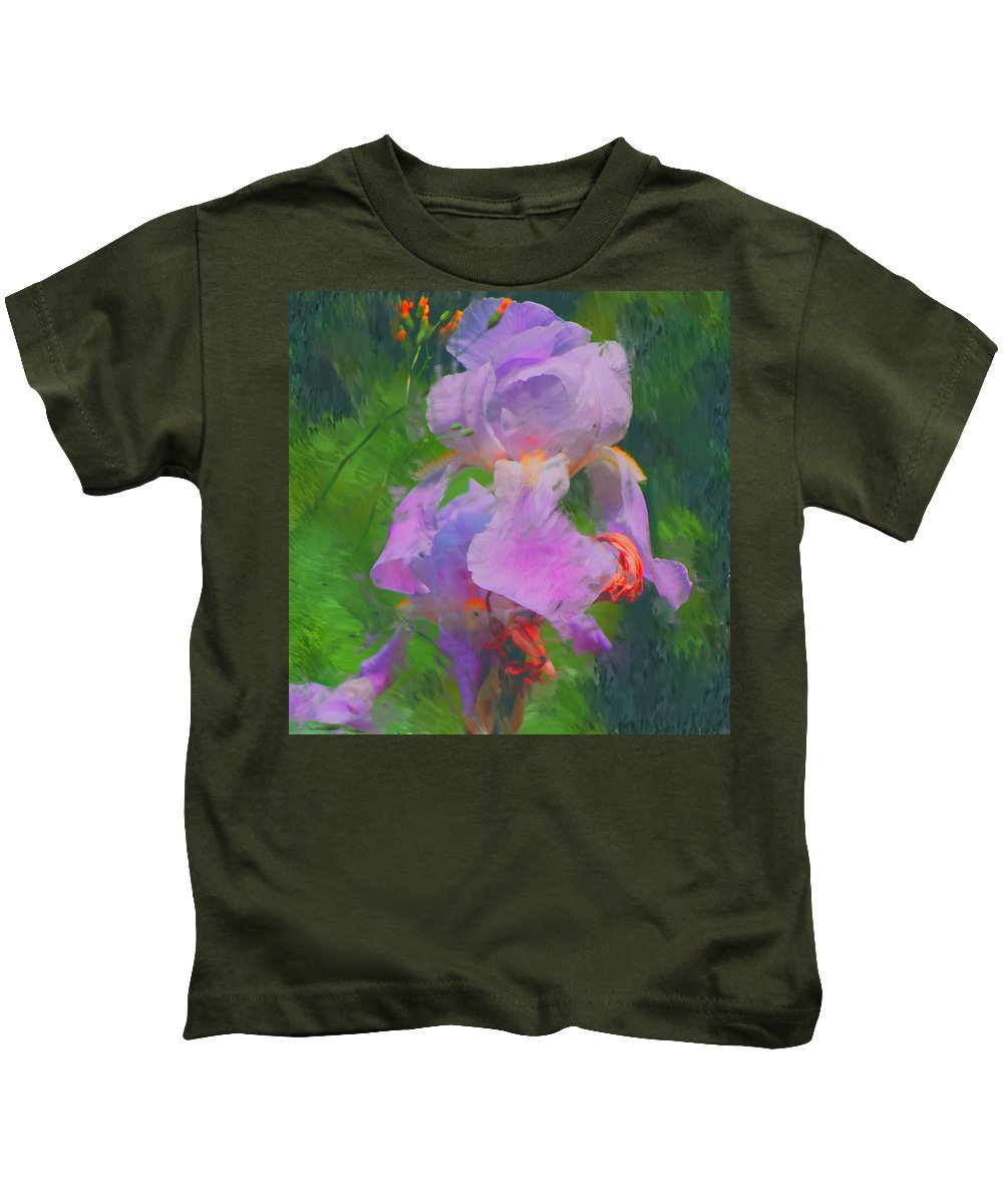 Iris Kids T-Shirt featuring the painting Fading Glory by David Lane