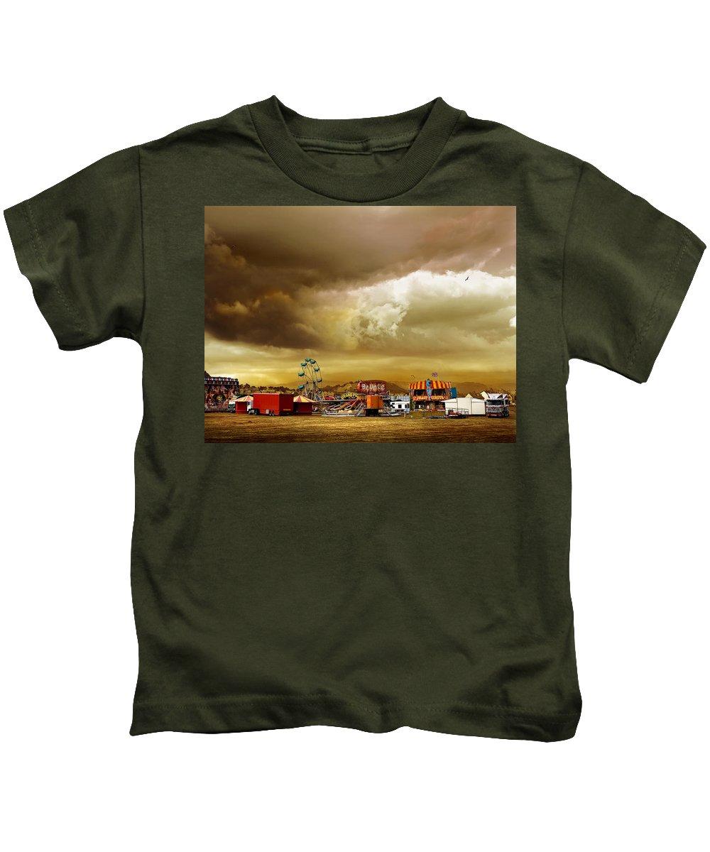 Fair Kids T-Shirt featuring the photograph Fair Weather by Mal Bray