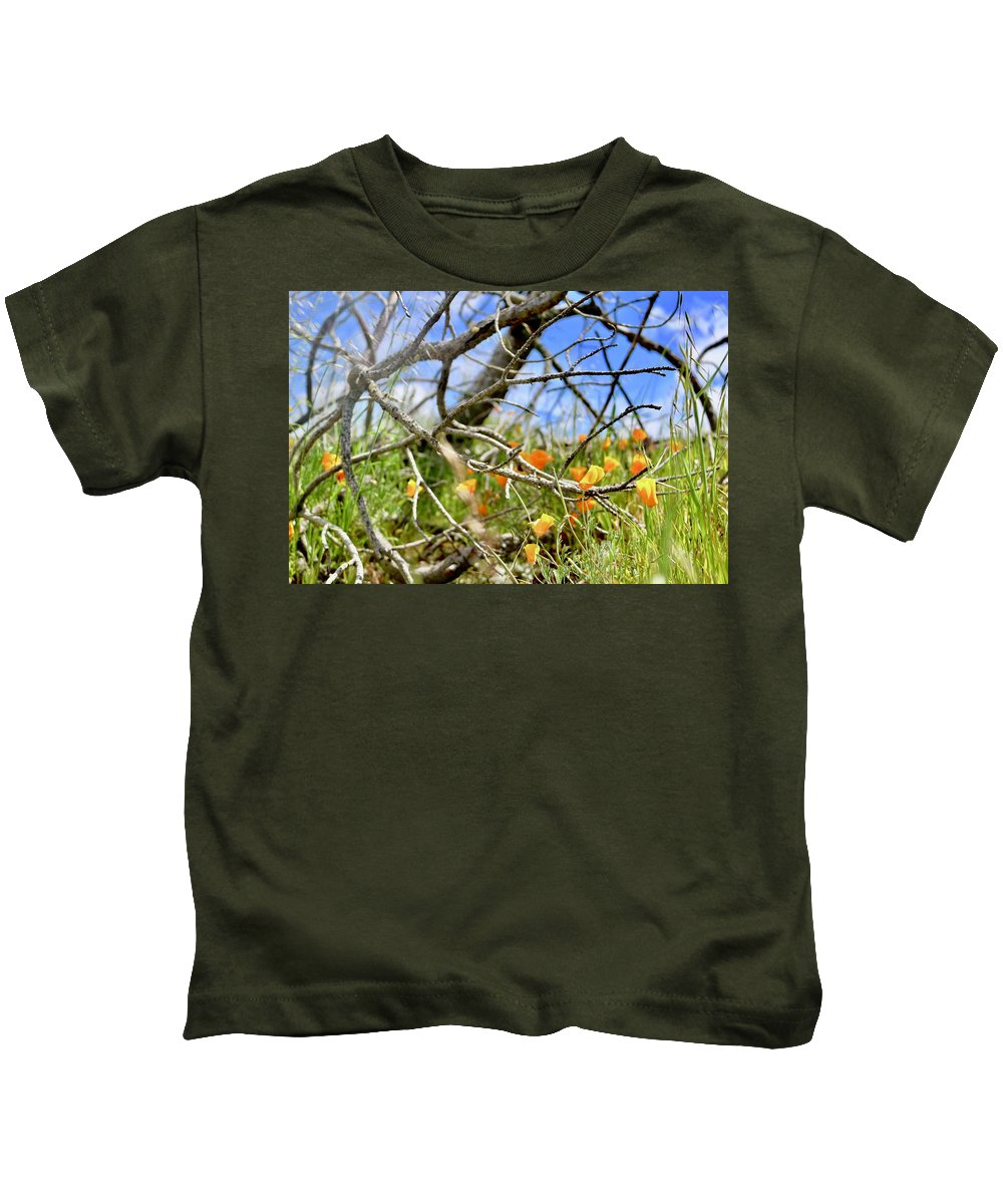 Landscape Kids T-Shirt featuring the photograph Fairytale Flowers by Erin Finnegan