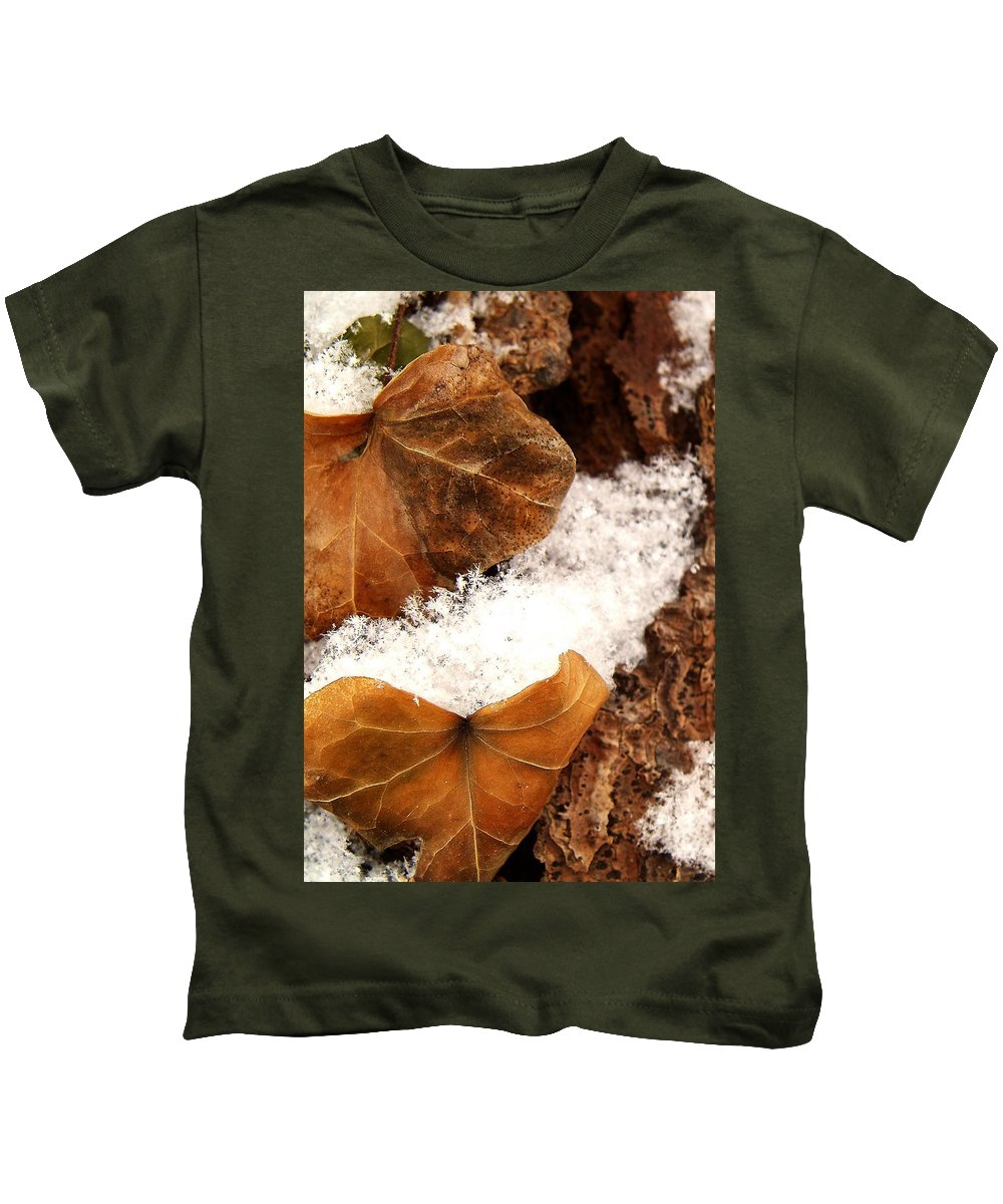 Fall Kids T-Shirt featuring the photograph Fall And Winter by Gaby Swanson