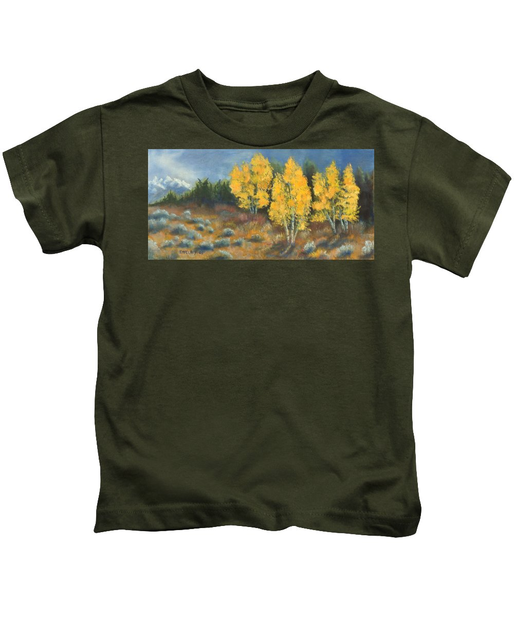 Landscape Kids T-Shirt featuring the painting Fall Delight by Jerry McElroy