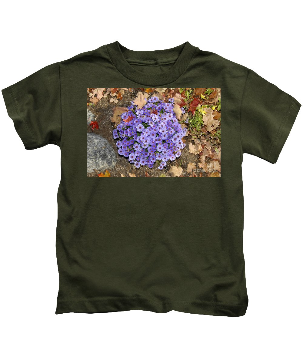 Fall Kids T-Shirt featuring the photograph Fall Flowers by David Lee Thompson