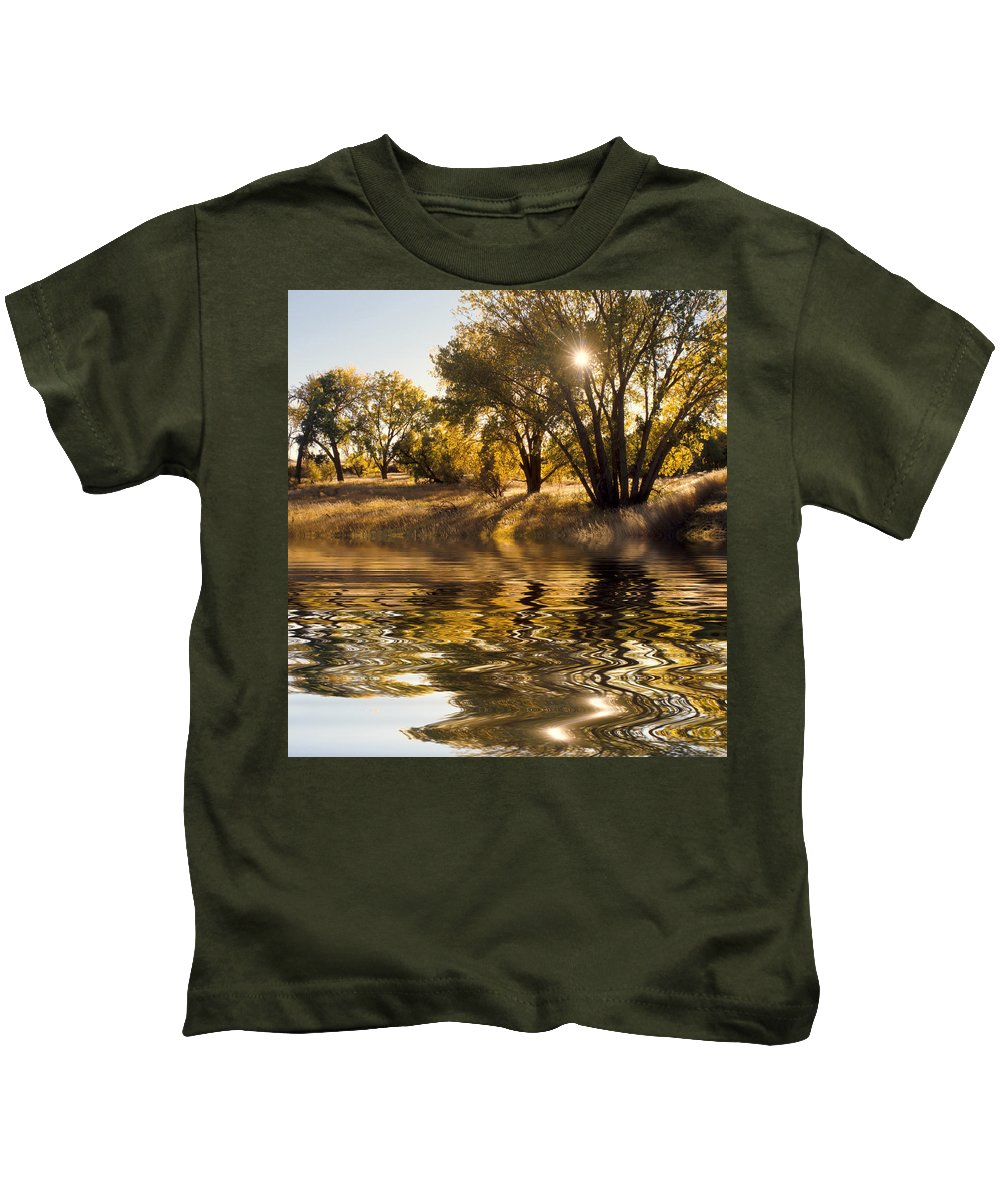 Fall Kids T-Shirt featuring the photograph Fall Reflections by Jerry McElroy