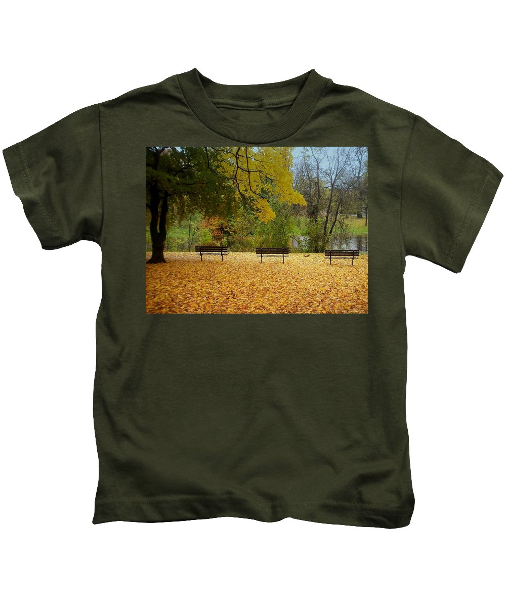 Fall Kids T-Shirt featuring the photograph Fall Series 13 by Anita Burgermeister