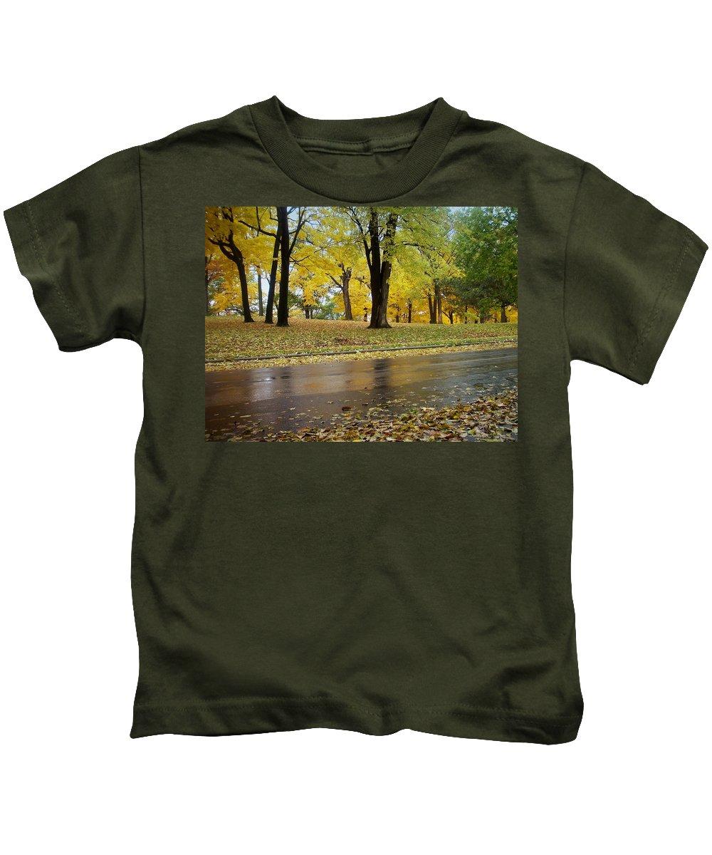 Fall Kids T-Shirt featuring the photograph Fall Series 15 by Anita Burgermeister