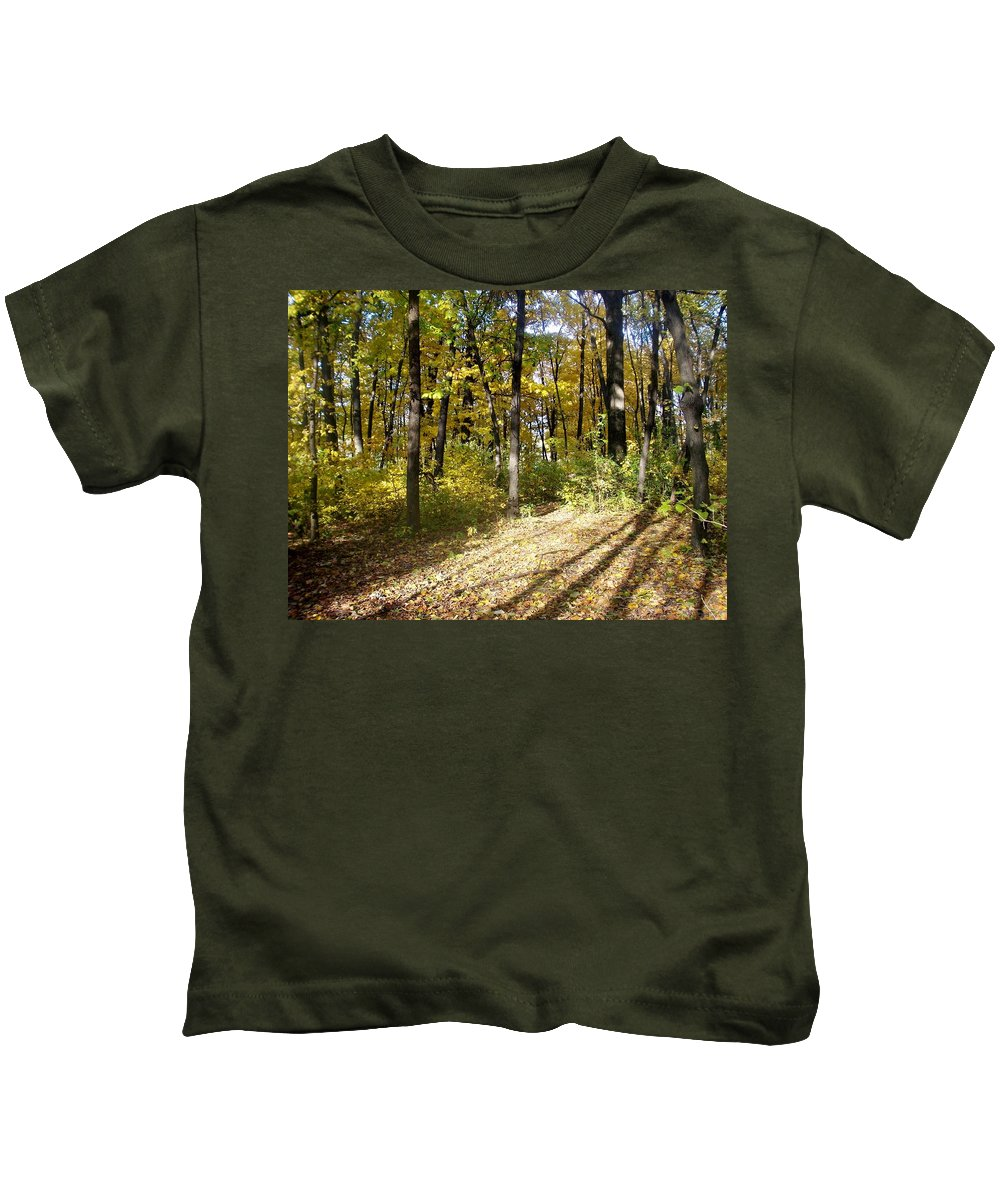 Fall Kids T-Shirt featuring the photograph Fall Series 2 by Anita Burgermeister