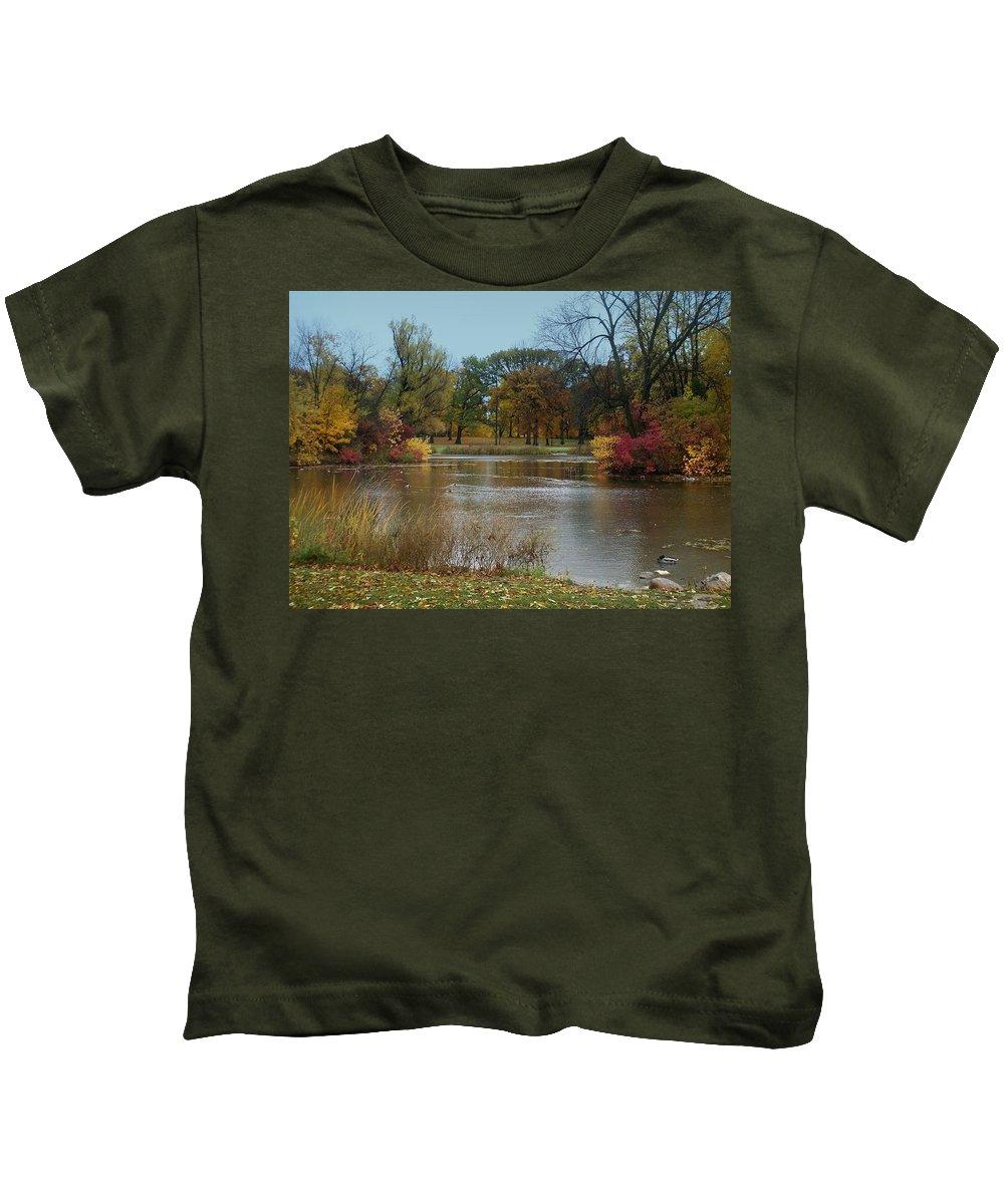 Fall Kids T-Shirt featuring the photograph Fall Series 9 by Anita Burgermeister