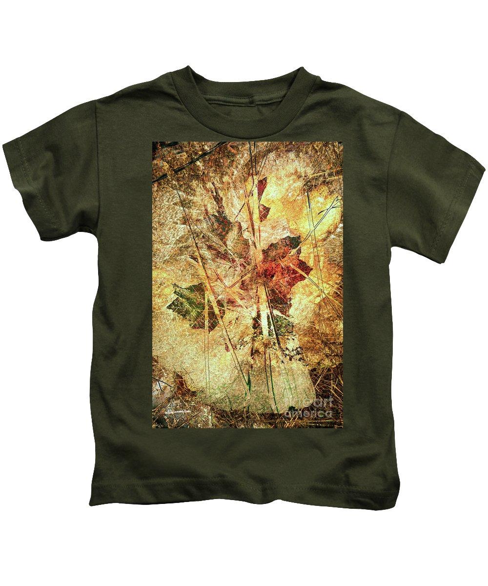 Fall Kids T-Shirt featuring the digital art Fall Treasures by Georgianne Giese